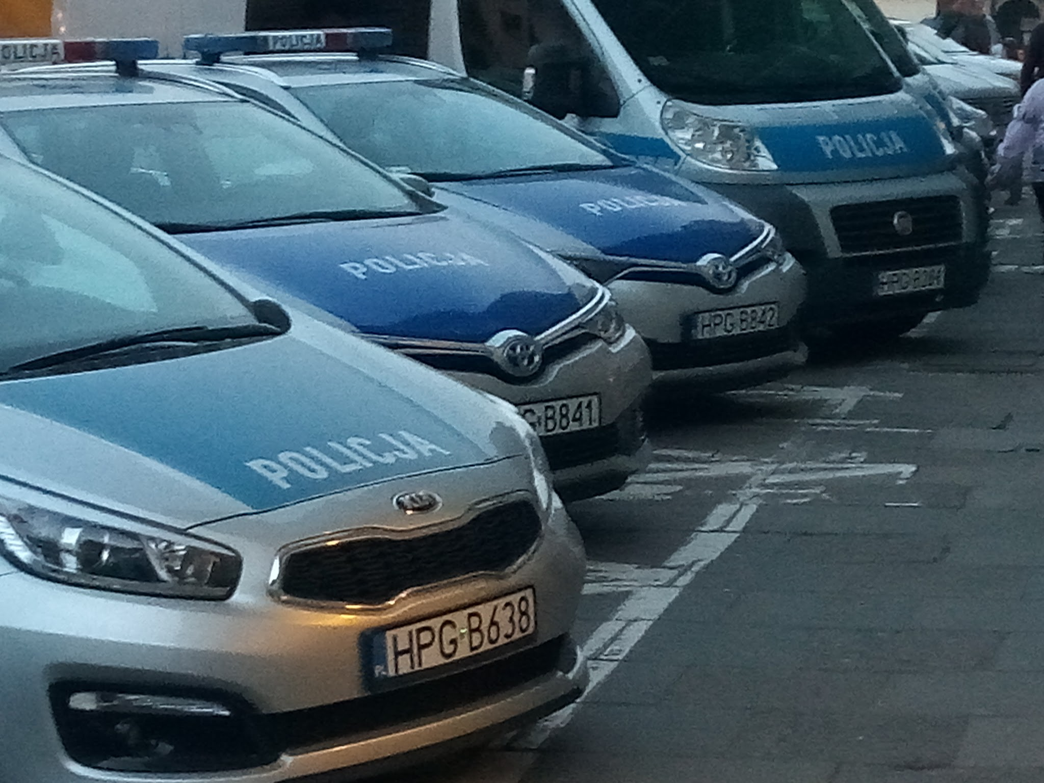 Row of Kia police cars